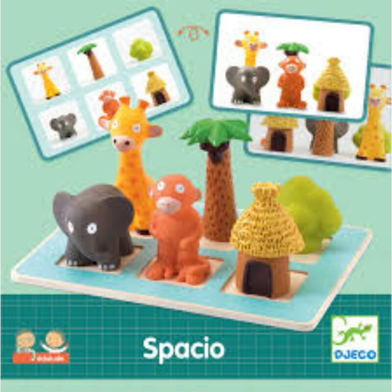 Spacio Eduludo, térbeli látást fejlesztő játék, Djeco, 4-6 év