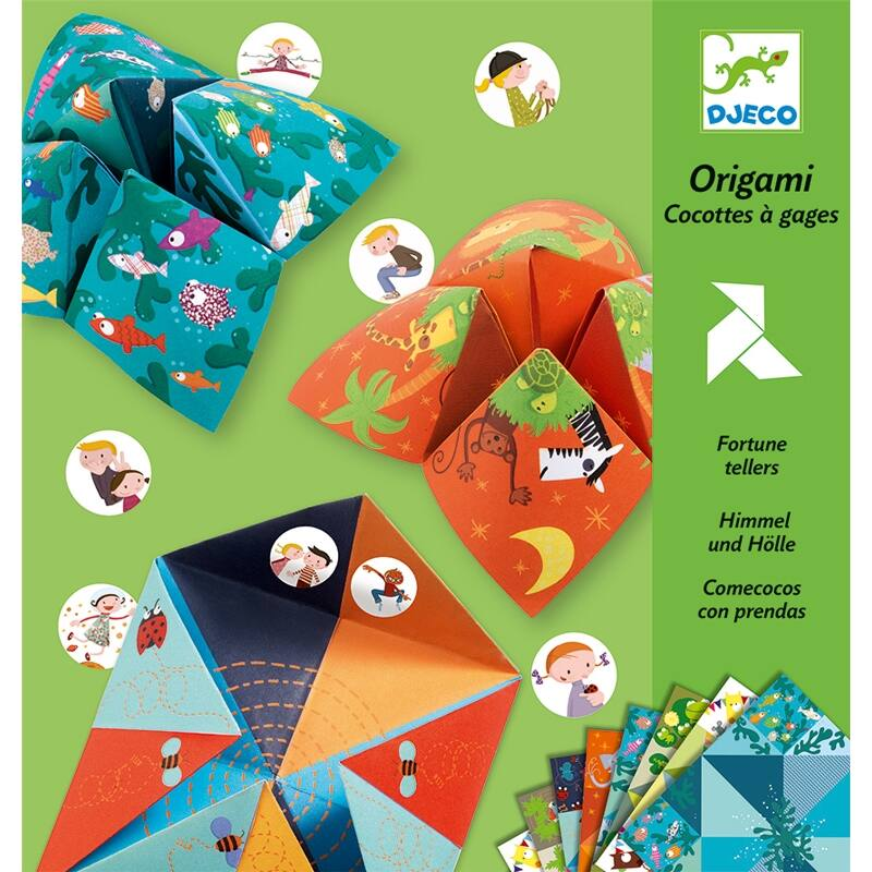 Origami Sótartó, Djeco, Origami bird game