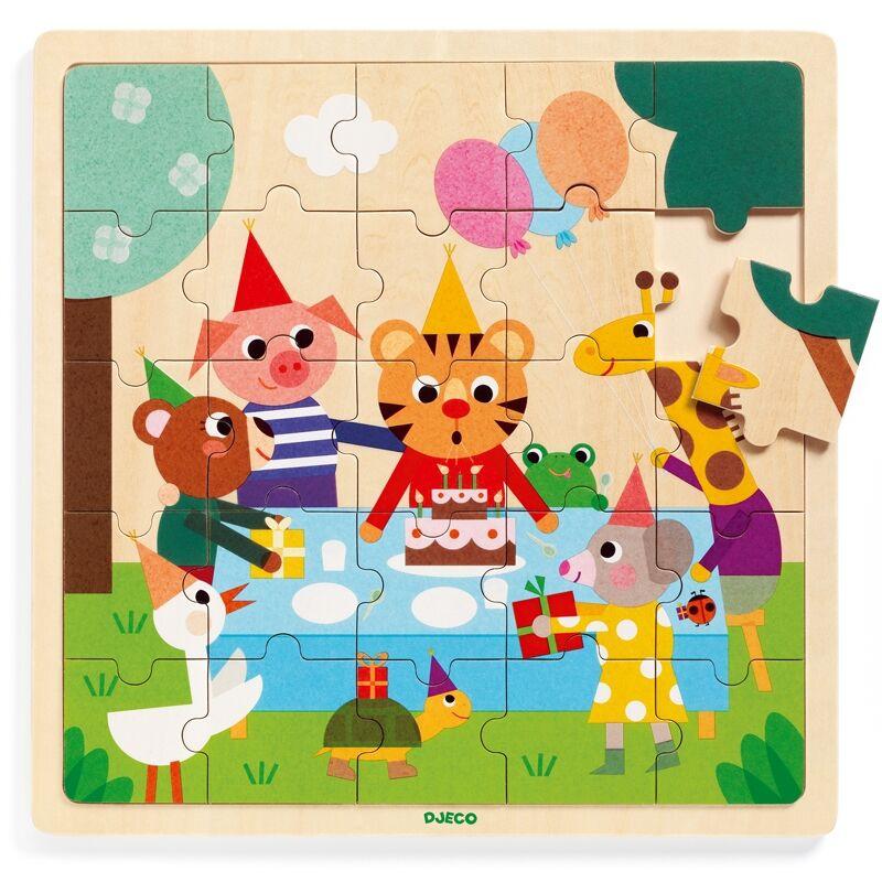 Cickom szülinapja - Djeco puzzle 3-6 éves korig