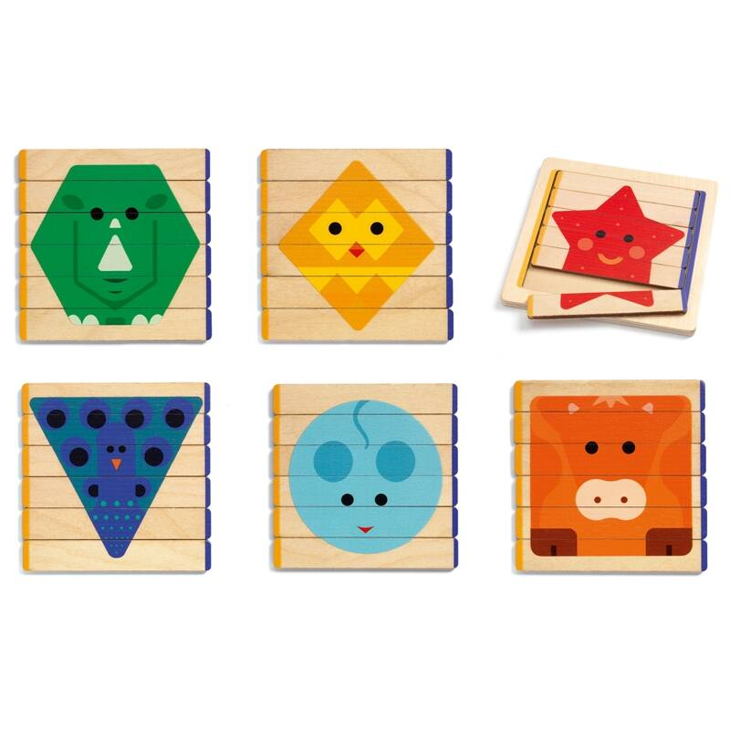 Képkirakó - Lécépítő - Djeco puzzle 3-6 éves korig