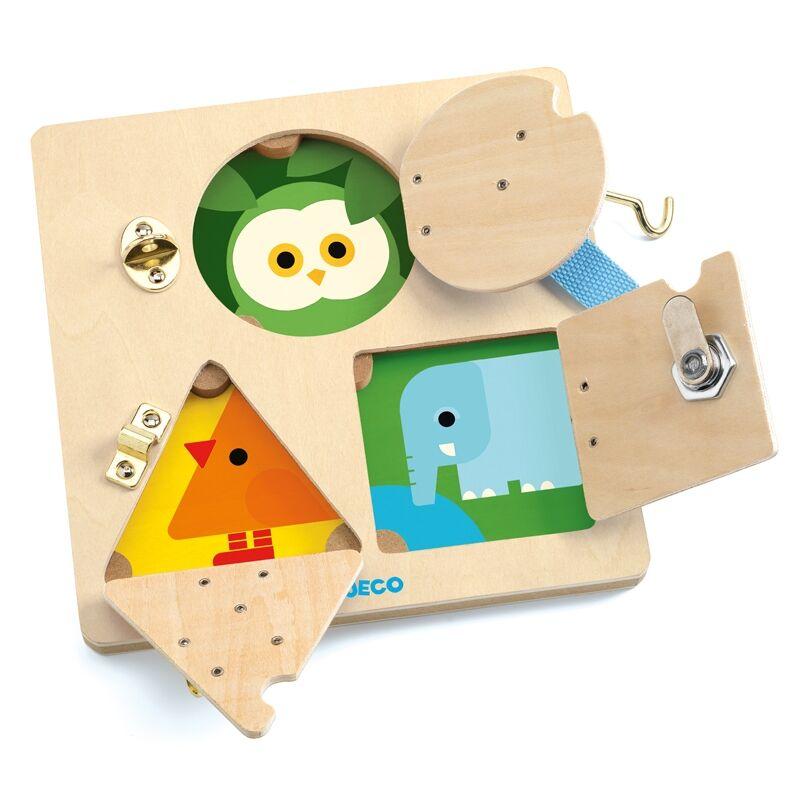 Képkirakó - Csiki-csuki - LockBasic - Djeco fejlesztő játék 3-6 éves korig