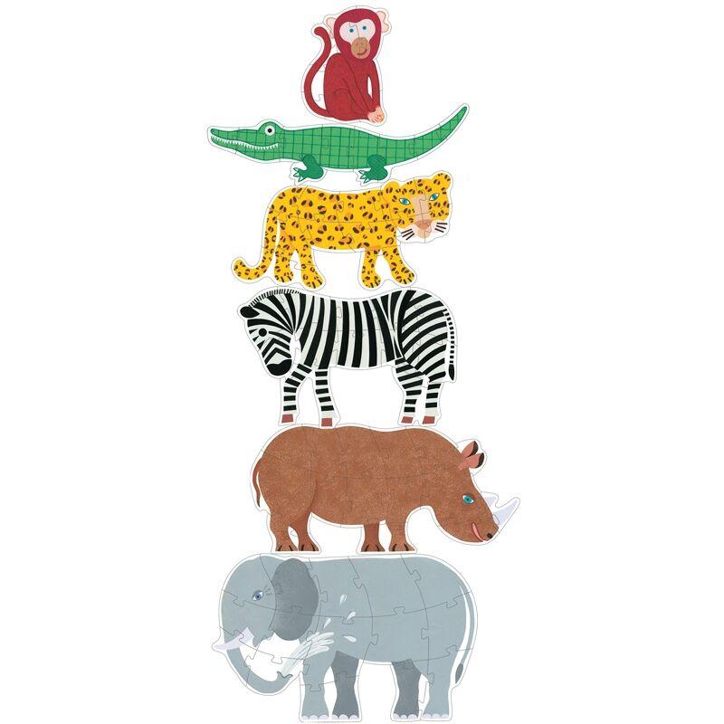 Óriás puzzle - Henri és barátai - Djeco puzzle 3-6 éves korig