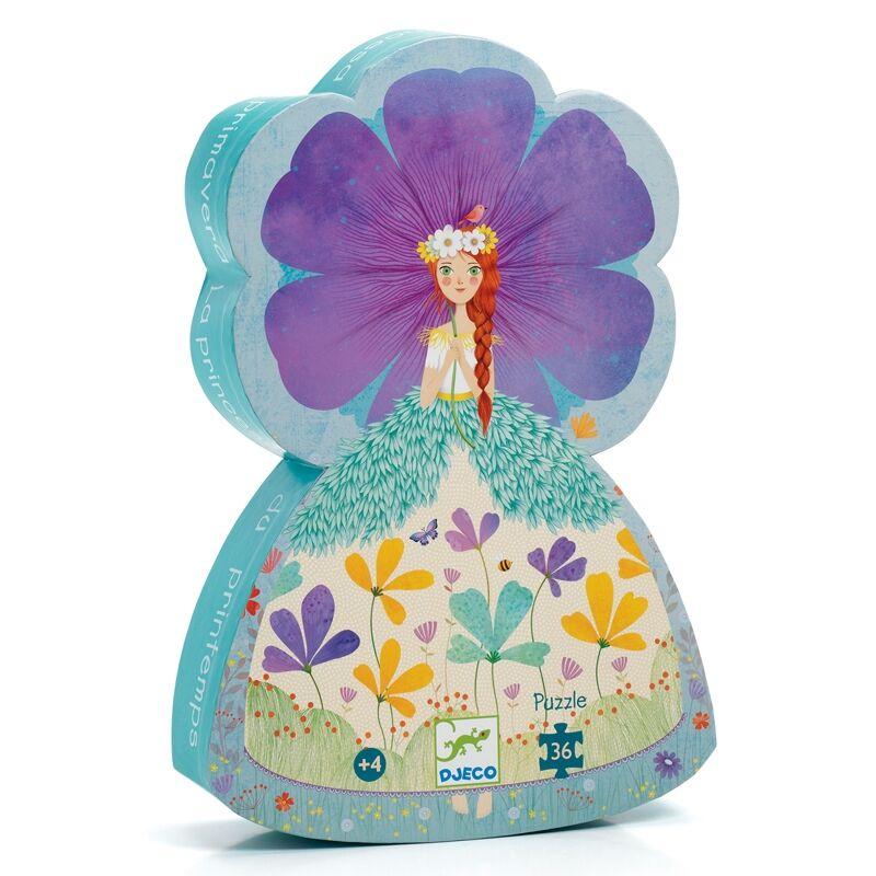 Formadobozos puzzle - Tavasz hercegnő - Djeco puzzle 4 éves kortól