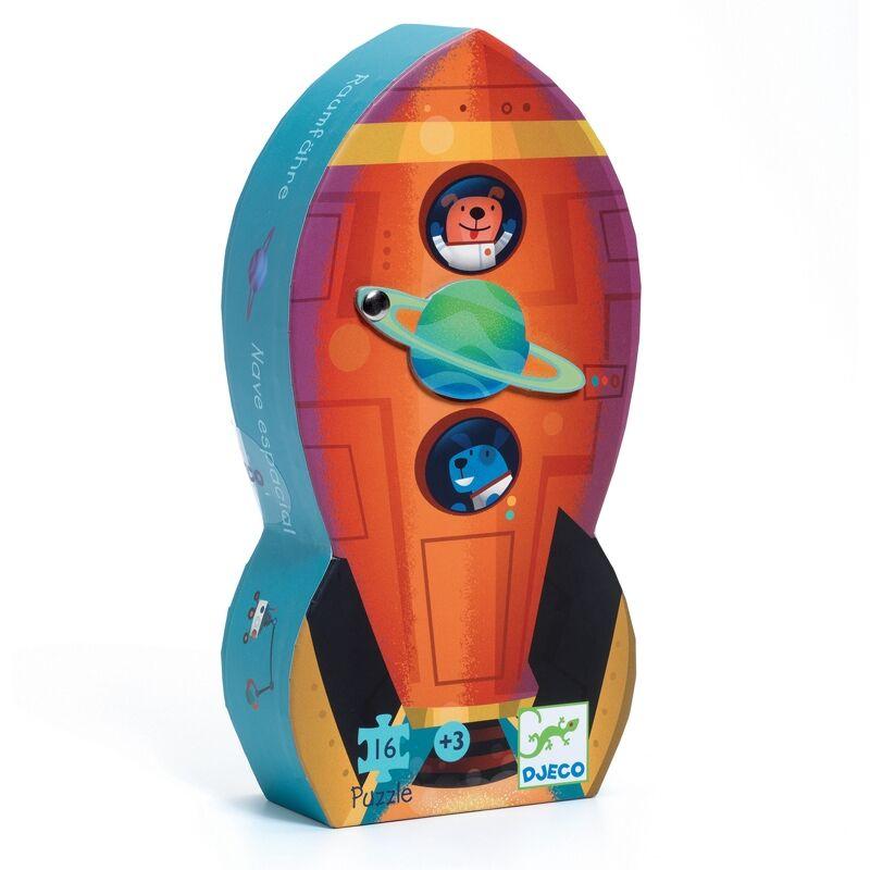 Formadobozos puzzle - Űrhajó - Djeco puzzle 3-6 éves korig