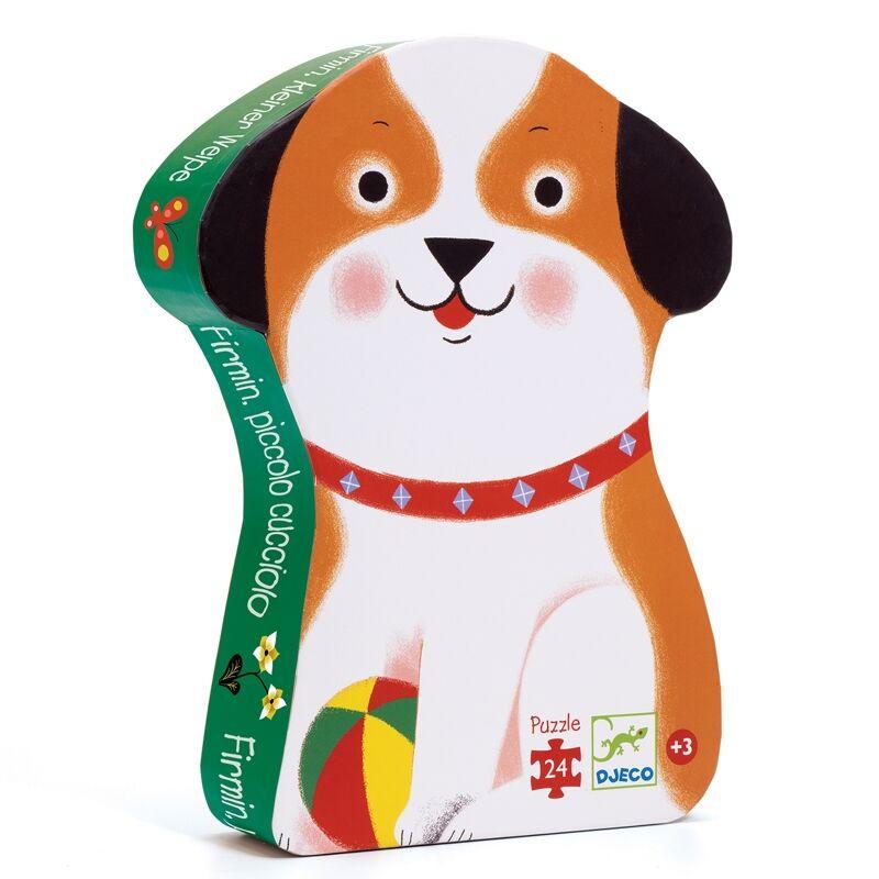 Formadobozos puzzle - Firmin, a kis kutyus - Djeco puzzle 3-6 éves korig