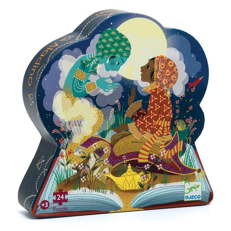 Formadobozos puzzle - Aladdin - Djeco puzzle 3 éves kortól