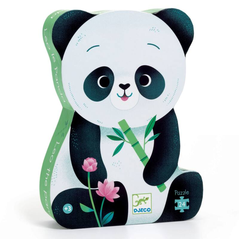 Formadobozos puzzle - Leó, a Panda - Djeco puzzle 3 éves kortól