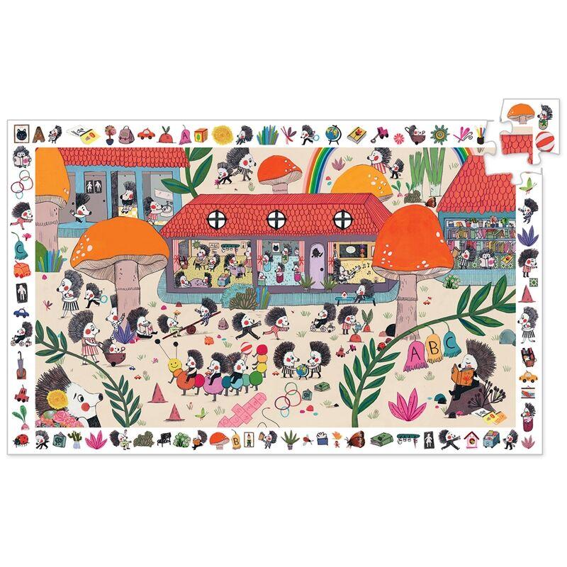 Megfigyeltető puzzle - Süni suli - Djeco puzzle 3 éves kortól