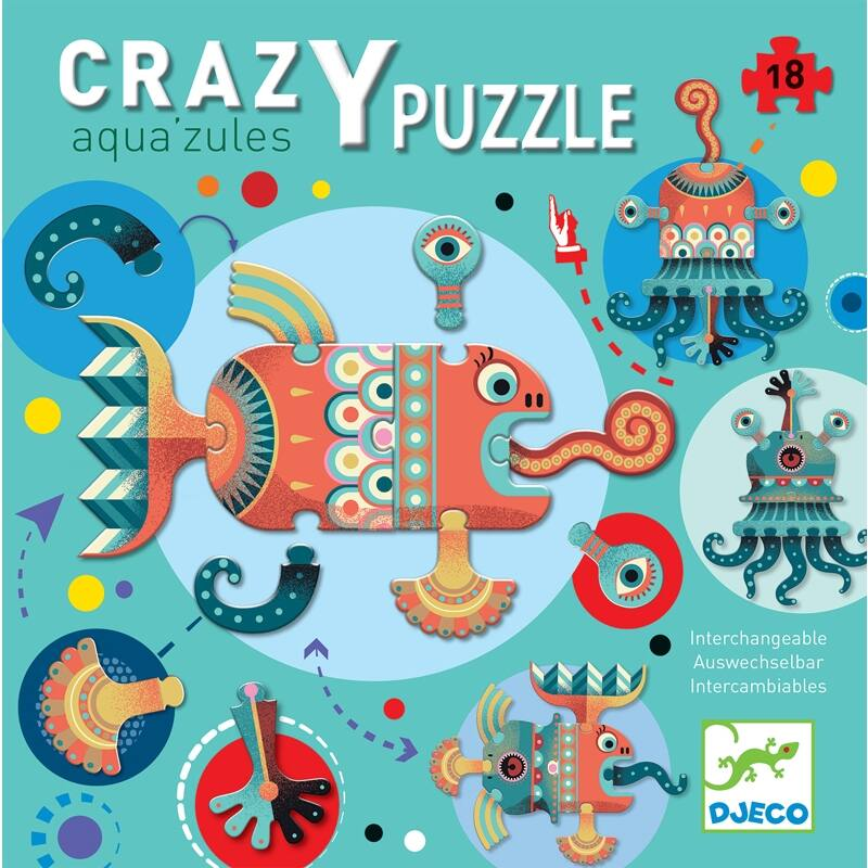 Crazy puzzles - Óriás puzzle, Djeco, 3 éves kortól