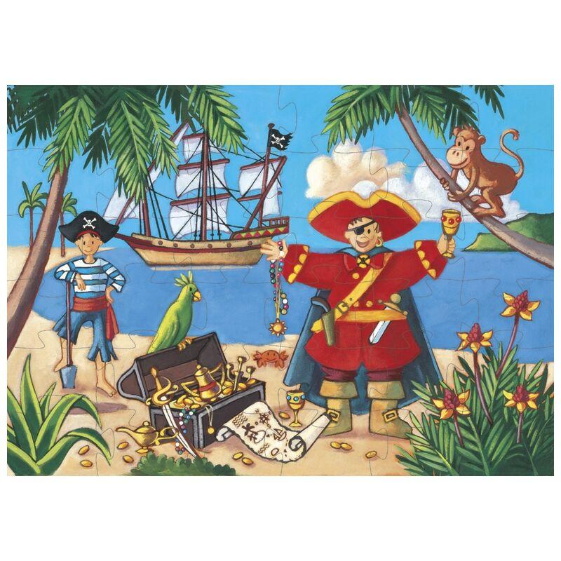 Kalózok kincse - 36 db-os Djeco formadobozos puzzle, 4 éves kortól