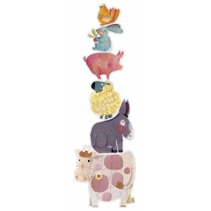 Óriás puzzle - Pitypang és barátai - Djeco puzzle 3-6 éves korig