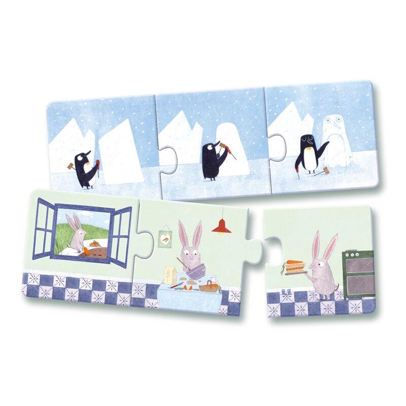 Történetek- puzzle kicsiknek -  Djeco puzzle 3 éveseknek