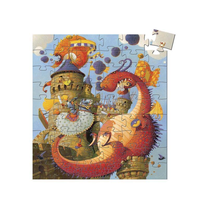 Formadobozos puzzle - Vaillant és a sárkány, Djeco puzzle, 5 éves kortól