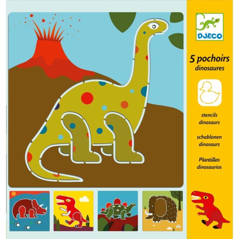 Rajzsablonok - Dínók - Dinosaurs, Djeco kreatív készlet