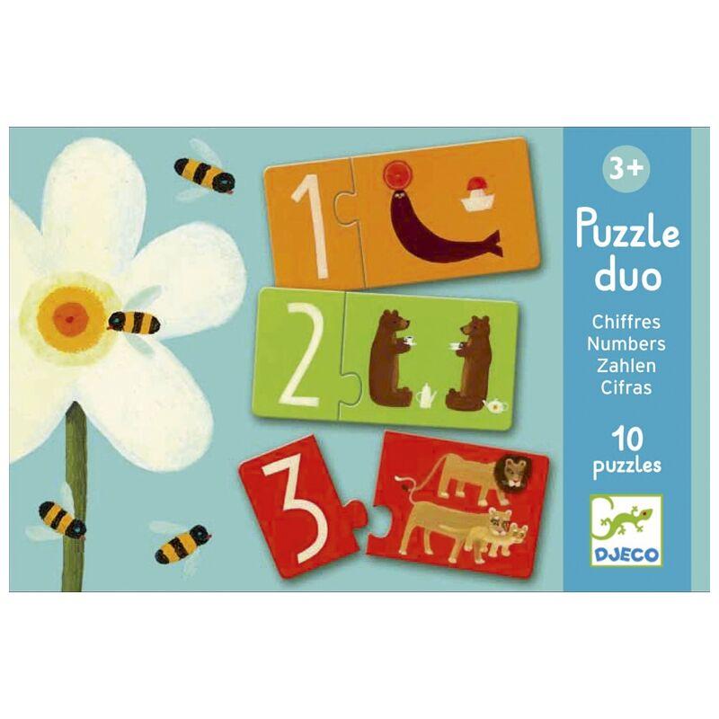 Számpárosító - 10 db-os párosító puzzle, Djeco puzzle