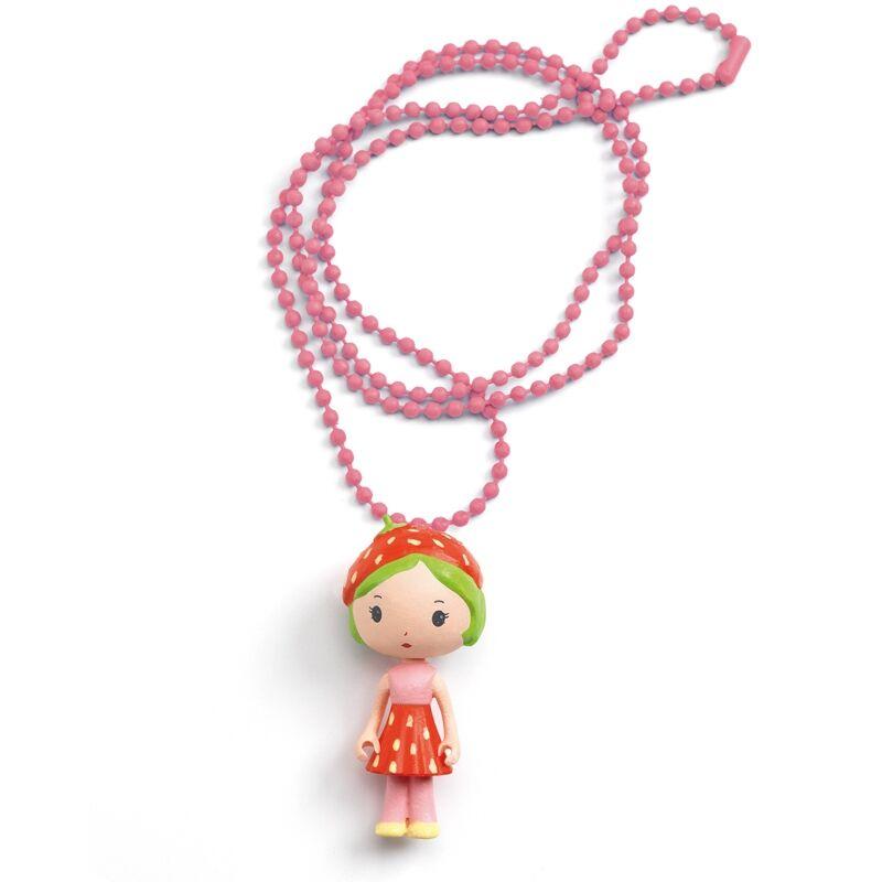 Álomvilág figurák - Eperke nyaklánc - Djeco ékszer 4 éves kortól