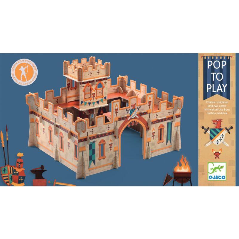 Építőjáték - Középkori vár - Djeco építőjáték 4 éves kortól