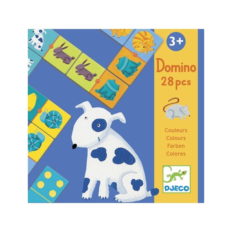 Színes állatok domino - Colour animals domino, Djeco