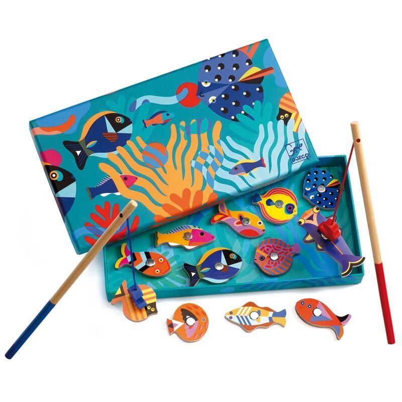 Horgász játék - Halgrafika, Djeco társasjáték 2-4 éves korig