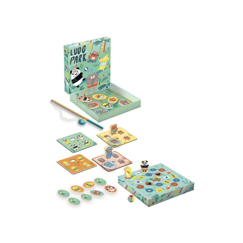 Társasjáték - Kis ügyes - LudoPark- 4 játék egyben, Djeco társasjáték 2-4 éves korig