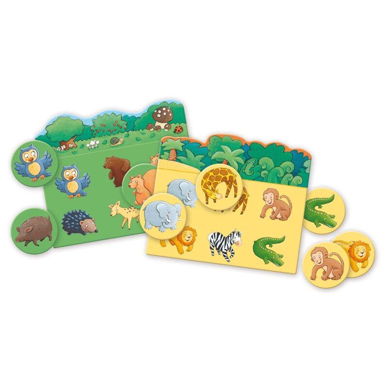 Képeslottó - Állatok élőhelye, Djeco társasjáték 2-4 éves korig