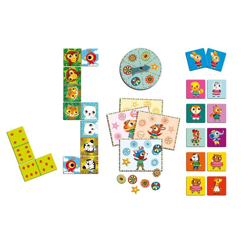 Hármas társas - Little friends - Djeco társasjáték 3 éves kortól