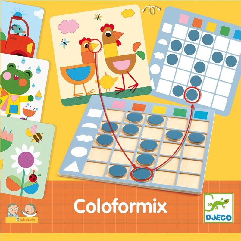 Fejlesztő játék - Színek és formák - Djeco Eduludo - 3 éves kortól