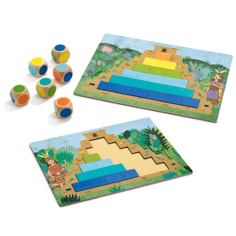 Társasjáték - Piramisépítő, Djeco társasjáték 5-10 éveseknek