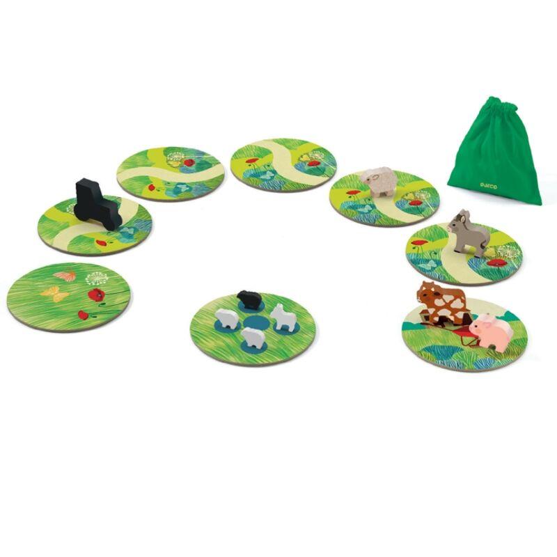 Társasjáték - Farmállatok, Djeco társasjáték 4 éves kortól