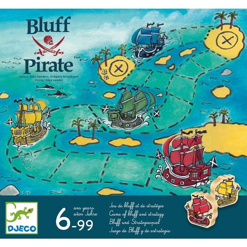 Társasjáték Bluff Pirate, Djeco blöffölős társasjáték DJ8417, 6 évtől