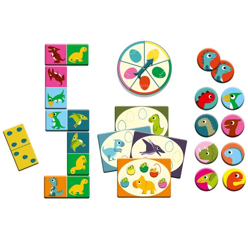 Djeco Bingo Memo Domino Dinoszauruszok 3 az 1-ben társasjáték
