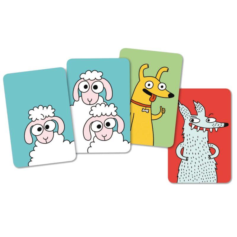 SweepSheep Djeco, stratégiai kártyajáték, 5 éves kortól