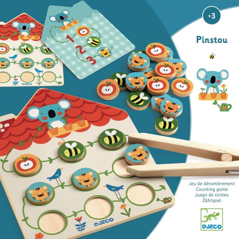 Képkirakó - Csípd fel! - Pinstou - Djeco fejlesztő játék 3 éves kortól