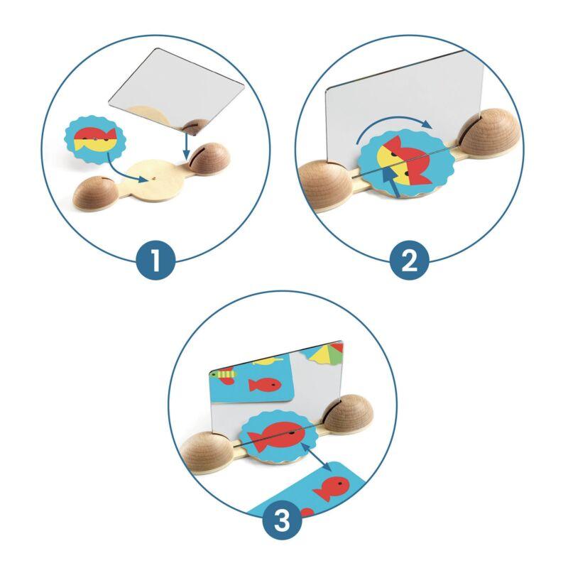 Képkirakó - Tükröző halak - Djeco fejlesztő játék 3-6 éves korig