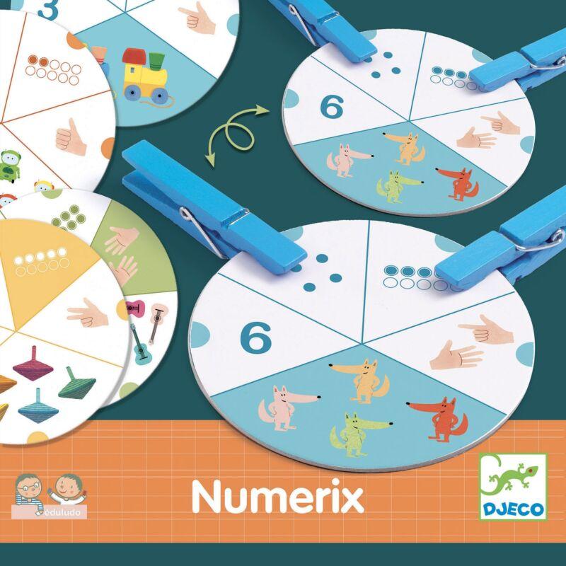Numerix - Számok - Djeco fejlesztő játék 3-6 éves korig