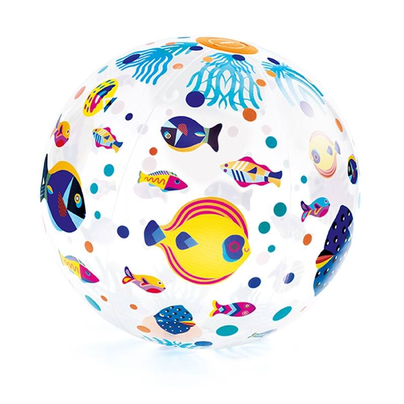 Felfújható labda - Halacskák - Djeco mozgásfejlesztő játék 3 éves kortól