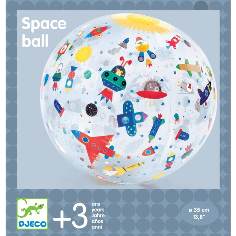 Felfújható labda - Űrjárművek - Djeco mozgásfejlesztő játék 3 éves kortól