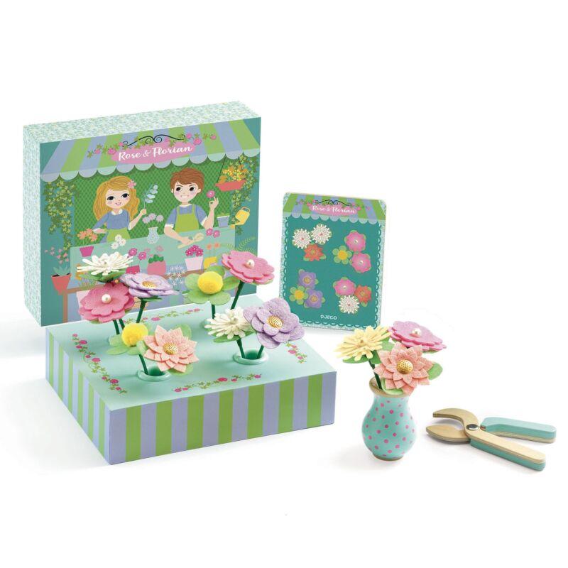 Virágkötő - Rose & Florian - Djeco szerepjáték 3-5 éves korig