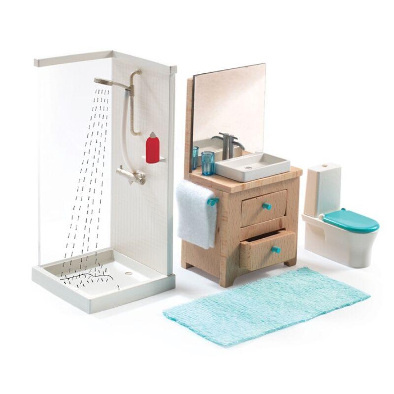 A fürdőszoba -The bathroom, Djeco szerepjáték 4-12 éves korig