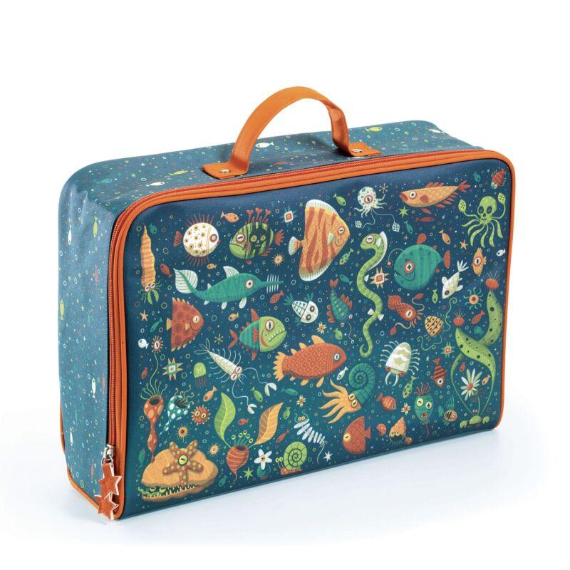 Trendi kis bőrönd - Vicces halak - Djeco - 3 éves kortól