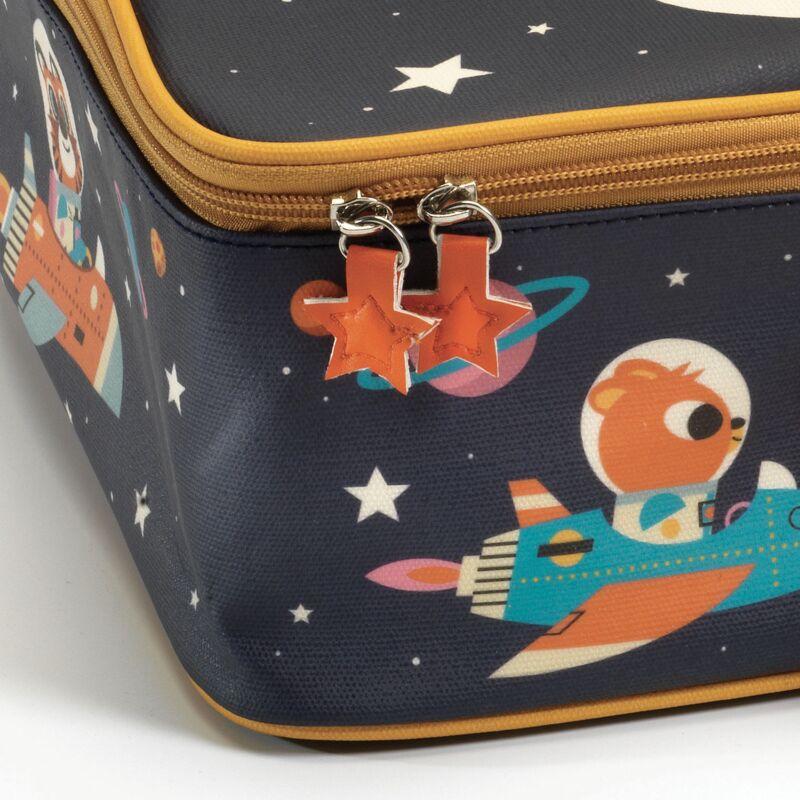 Trendi kisbőrönd - Űrutazás - Djeco - 3 éves kortól