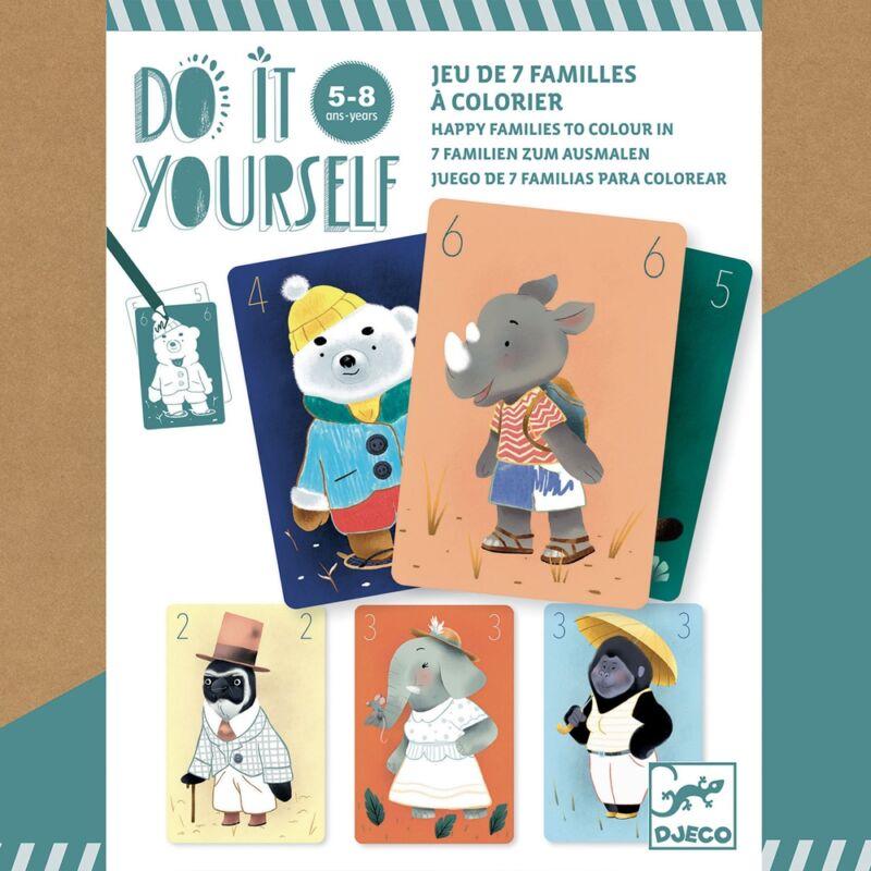 Csináld magad! - Családgyűjtő kártyajáték -Djeco kártyajáték 5-8 éves korig