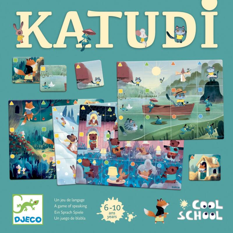 Társasjáték - Szintén - Katudi - Djeco fejlesztőjáték 6-10 éves korig