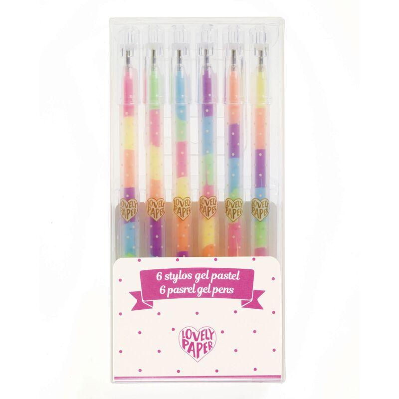 6 színű pasztell gél toll - Djeco kreatív készlet 4 éves kortól