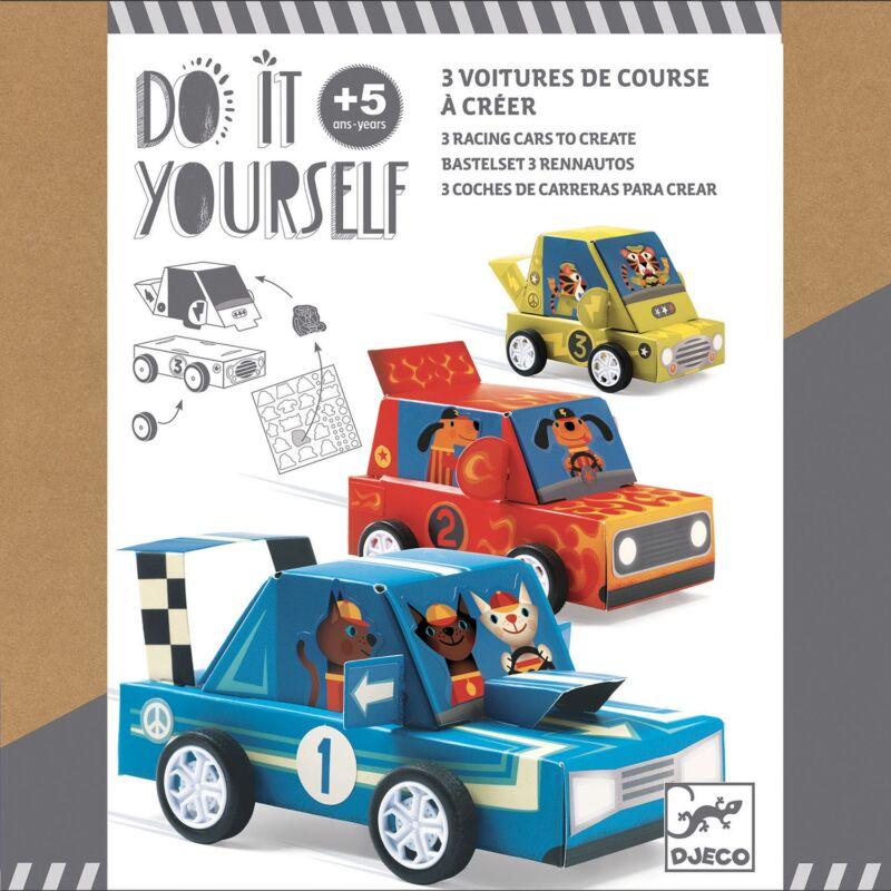 Csinál magad - Autóverseny - Djeco kreatív készlet 5-10 éves korig