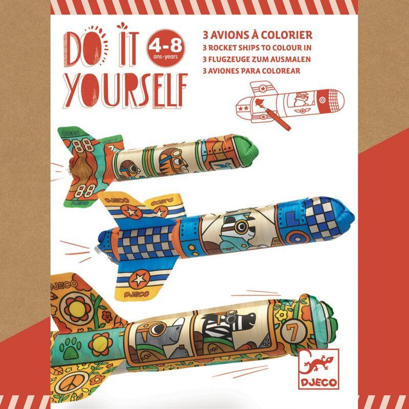 Csináld magad! - Rakéták - Djeco kreatív készlet 4-8 éves korig