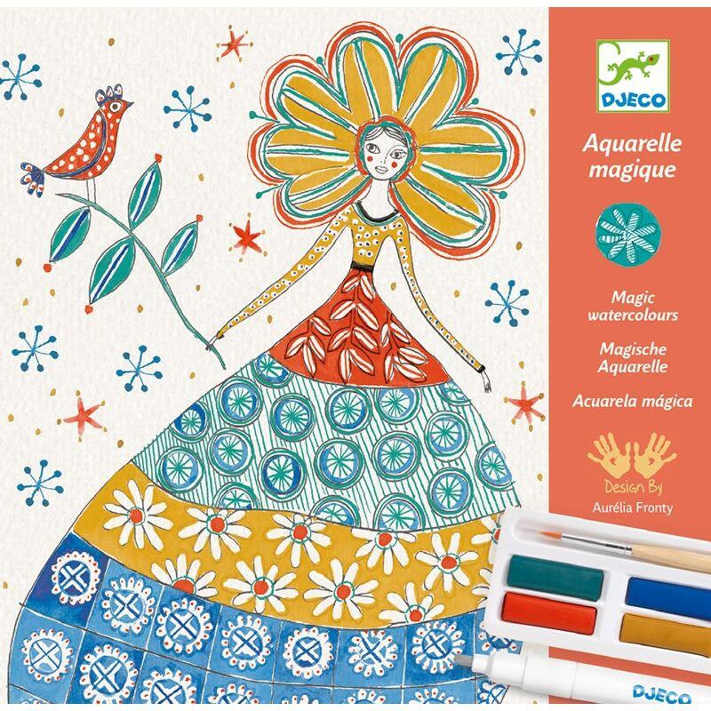 Művészeti műhely - Romantikus virágos - Djeco kreatív készlet 8 éves kortól