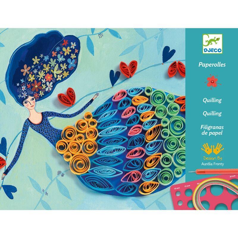 Művészeti műhely - Tavasztündér - Djeco kreatív készlet 8 éves kortól