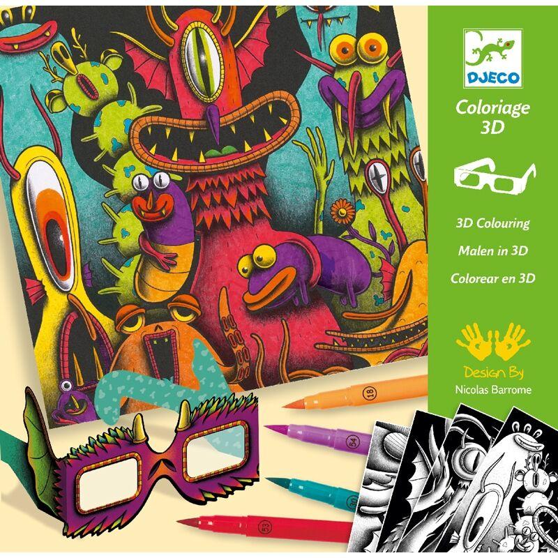 Művészeti műhely - Viccesen Furi - Funny Freaks 3D - Djeco kreatív készlet 6 éves kortól