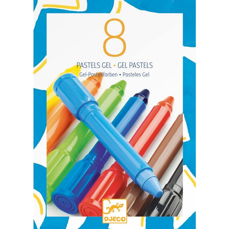 Gélpasztell 8 klasszikus színben - Djeco kreatív készlet 5 éves kort